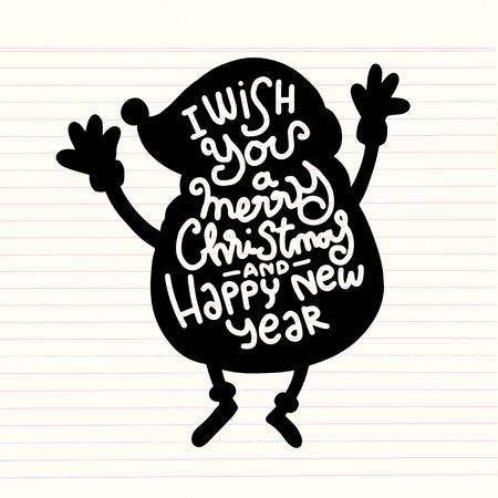 Résumé du père Noël isolé sur fond, style vintage, illustration vectorielle Banque d'images - 84003932