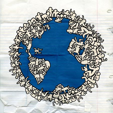 사람들과 지구의 지구