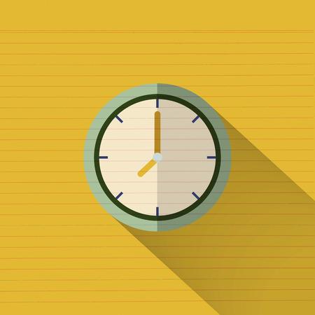 アイコンのデザインを時計します。ベクトル事務所時計アイコンの影。