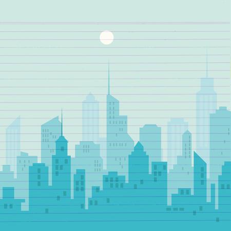 A City silhouette skyline vector illustration.