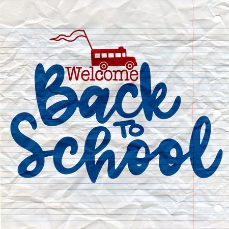 Back to school banner. Ilustrace