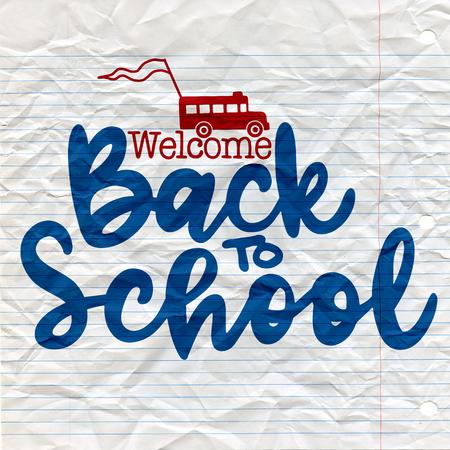Back to school banner. Illustration