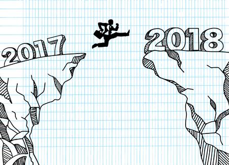 Nieuw jaar nieuw beginconcept Stock Illustratie
