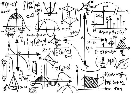 物理の数式や現象  イラスト・ベクター素材