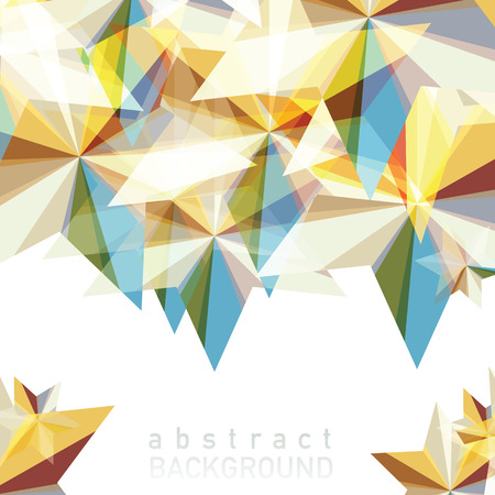 A vector illustration of abstract geometric background with place for your text. Illustration