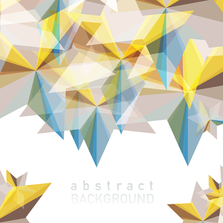 Vector illustration of Abstract geometric background with place for your text. Фото со стока - 88067401
