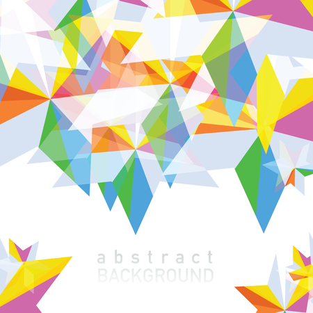 Vector illustration of Abstract geometric background with place for your text. Фото со стока - 88067410