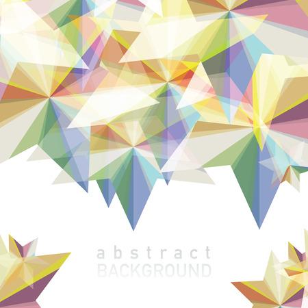 Vector illustration of Abstract geometric background with place for your text. Фото со стока - 88067837