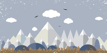 フラットのランドス ケープ デザイン  イラスト・ベクター素材