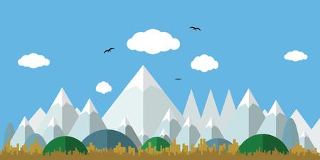 Flat landscape design. Иллюстрация