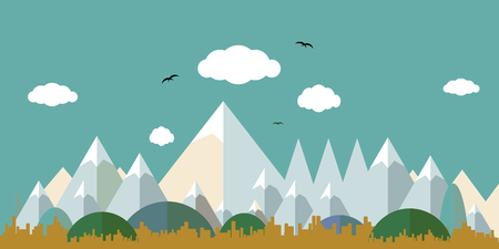 Flat landscape design. Ilustrace