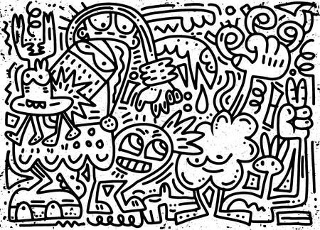 Christmas doddle illustration. Ilustrace