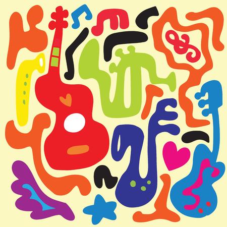 音楽のパターン。  イラスト・ベクター素材