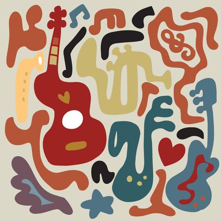 楽器のイラスト。