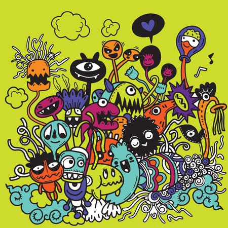 Illustration vectorielle de griffonnages de Halloween dessinés à la main mignons, éléments de conception pour ordinateur portable Doodle sur Illustration de papier ligné Sketchbook Banque d'images - 88414866