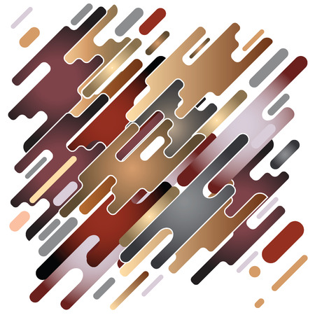 Modern style abstraction with composition made of various rounded shapes in color. Vector illustration. Stock Vector - 88893482