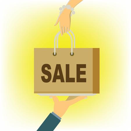 Sale banner concept illustration.