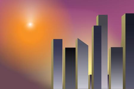 City skyline vector illustration. Urban landscape. Modern landscape. copy space backgrounds.