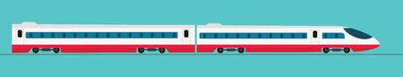 Tren expreso del pasajero Transporte ferroviario, ilustración vectorial Foto de archivo - 89686134