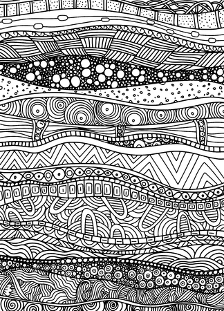 Vector pattern with zentangle background. Pattern for invitations, posters, antistress coloring. Фото со стока - 90153549