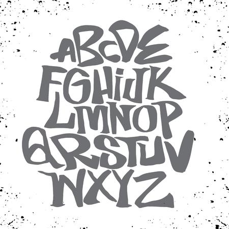 手レタリング スケッチ フォントです。ベクトルのアルファベット  イラスト・ベクター素材