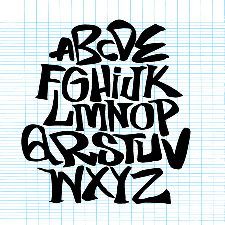 Hand lettering sketch font. Vector alphabet.