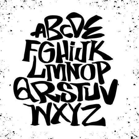Hand lettering sketch font. Vector alphabet Zdjęcie Seryjne - 91361830