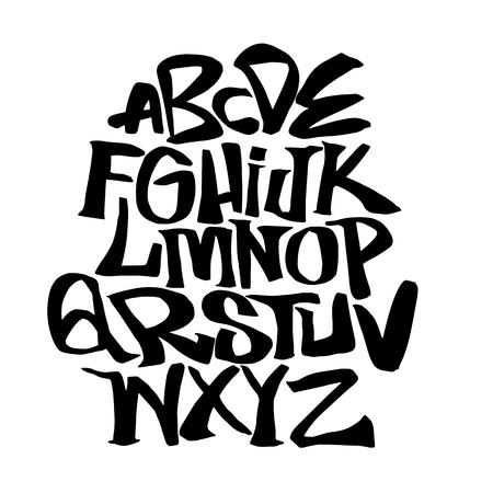 Hand lettering sketch font. Vector alphabet Illustration