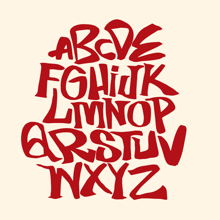 手書きスケッチ フォント。ベクトルアルファベット