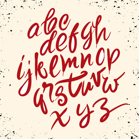 Font brush vintage hand drawn alphabet drawing with brush. Hand drawn calligraphy. Modern brush typography.
