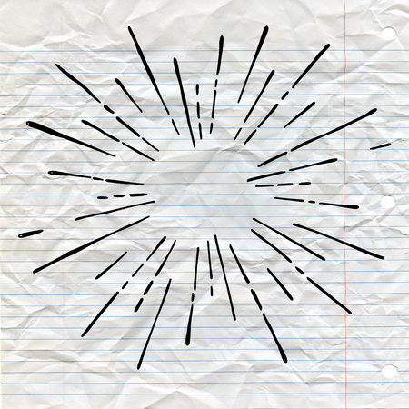 Sun burst, star burst sunshine. Radiating from the center of thin beams, lines. Design element for icon, signs. Dynamic style Abstract explosion, speed motion lines from the middle. Illustration