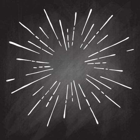 썬 버스트, 스타 버스트 햇살. 얇은 광선의 중심에서 방사, 선. 벡터 일러스트 레이 션. 로고, 표지판 디자인 요소 동적 스타일 추상 폭발, 중간에서 속 일러스트