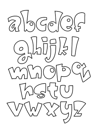 Vector of modern comical font and alphabet , Vector cartoon set of isolated on background cartoon style, alphabet letters. Commercial font type design. Comic book lettering typeface