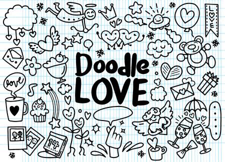 Cartoon vector hand drawn