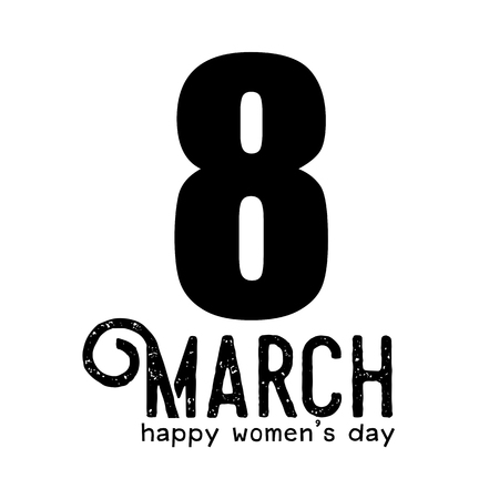Creative 8 March logo vector design with international womens day icon .Womens day symbol.
