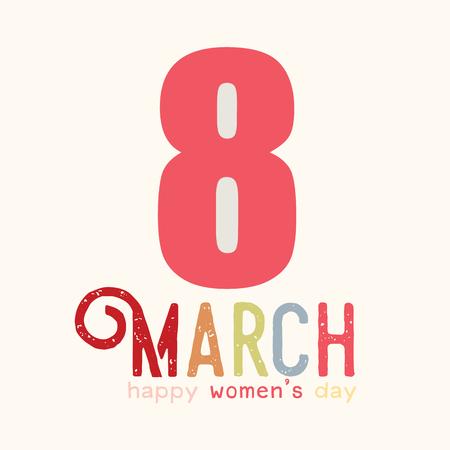 Happy Women's Day greeting card template design vector illustration Archivio Fotografico - 96919836