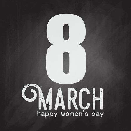 Happy Women's Day greeting card template design vector illustration Archivio Fotografico - 96919842