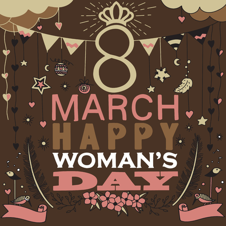 Woman day month illustration design