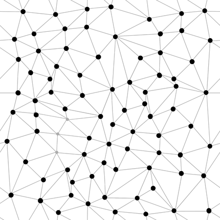 patrón sin costuras. Molécula de fondo gráfico geométrico y comunicación. Complejo de big data con compuestos. Ilustración de vector