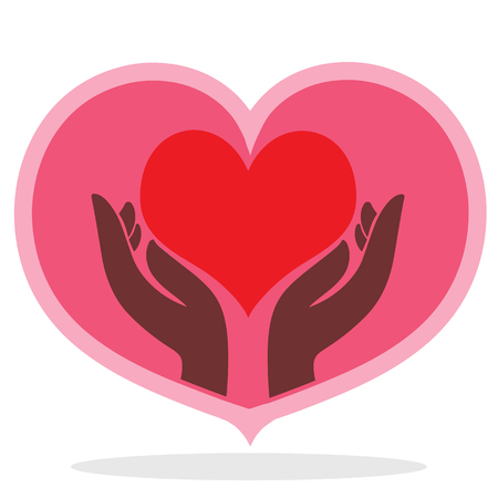 heart on hand icon illustration isolated vector sign symbol