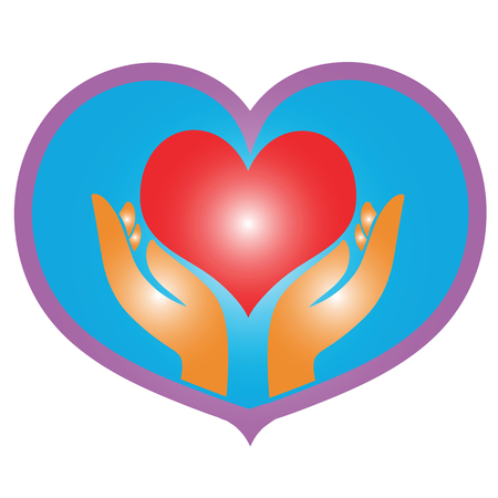 heart on hand icon illustration isolated vector sign symbol Stock Vector - 98030436