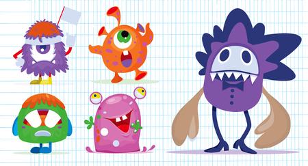 Cartoon Monsters set for Halloween.