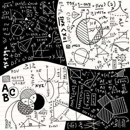 Physical formulas and phenomenon. hand-drawn illustration. science board with math. physics education at school Archivio Fotografico - 111824012