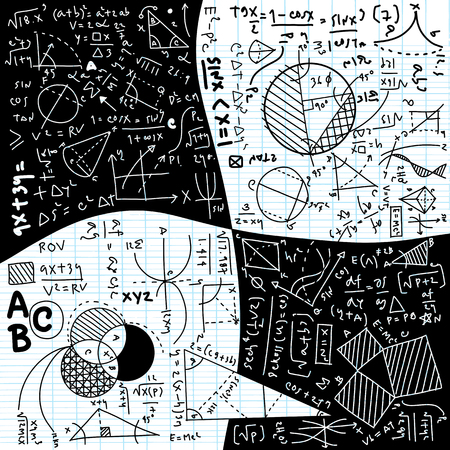 Physical formulas and phenomenon. hand-drawn illustration. science board with math. physics education at school Archivio Fotografico - 106774789