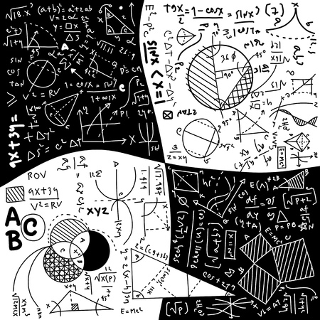 Physical formulas and phenomenon. hand-drawn illustration. science board with math. physics education at school Archivio Fotografico - 111824014