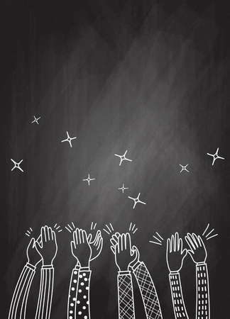 Human hands clapping ovation. doodle style ,vector illustration Stockfoto - 110842776