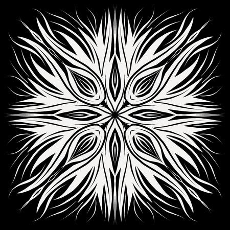 Flower Mandala. Vintage decorative elements. Oriental pattern, vector illustration. Islam, Arabic, Indian, moroccan,spain, turkish, pakistan, chinese, mystic, ottoman motifs. Coloring book page Archivio Fotografico - 110882424