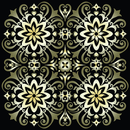 Flower Mandala. Vintage decorative elements. Oriental pattern, vector illustration. Islam, Arabic, Indian, moroccan,spain, turkish, pakistan, chinese, mystic, ottoman motifs. Coloring book page Archivio Fotografico - 110882428