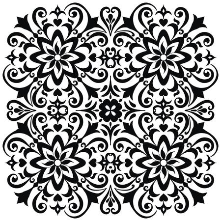 Mandala fleur. Éléments décoratifs vintage. Motif oriental, illustration vectorielle. Islam, arabe, indien, marocain, espagnol, turc, pakistanais, chinois, mystique, motifs ottomans. Page de livre de coloriage
