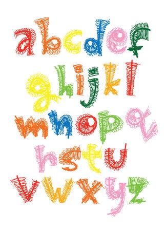 Thin line style, linear  lower case modern font, typeface, minimalist style, Latin alphabet letters. Vector design element Illusztráció